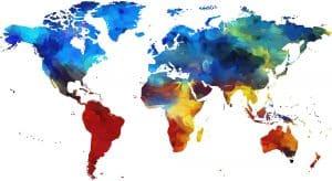 mapa mundi de colores