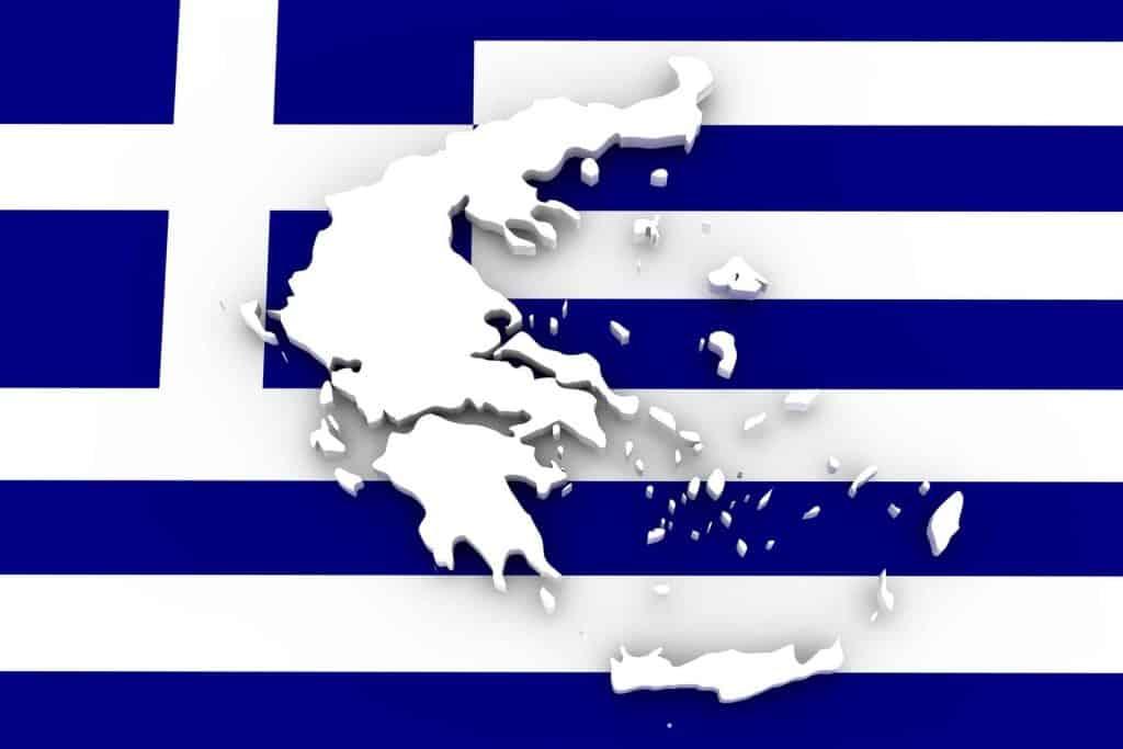 Mapa Grecia Bandera